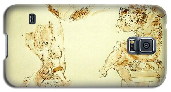 Agony And Atlas Sketch Watercolor Throwing The World As He Transforms Life From A Burden To Freedom Galaxy S5 Case
