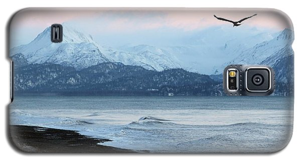 Galaxy S5 Case featuring the photograph Alaskan Beach At Sunset by Michele Cornelius