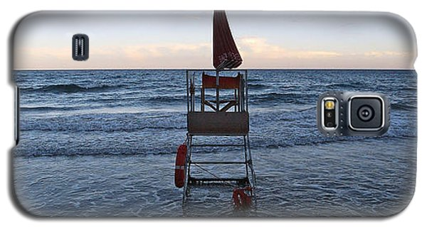 Galaxy S5 Case featuring the photograph Alassio Sunset Facing East by Andy Prendy