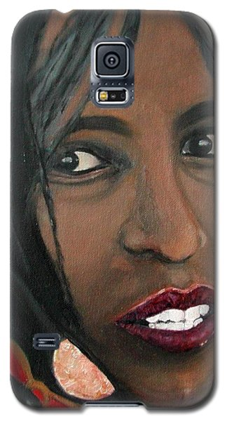 Galaxy S5 Case featuring the painting Alem E. W. by Anna Ruzsan