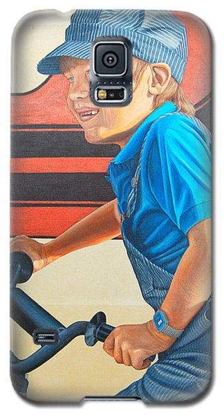 Galaxy S5 Case featuring the painting All I Want For Christmas by AnnaJo Vahle