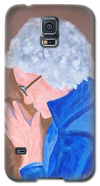 Galaxy S5 Case featuring the painting All In The Mind by Lisa Brandel