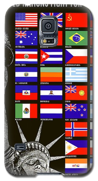 Allied Nations Fight For Freedom Galaxy S5 Case by War Is Hell Store