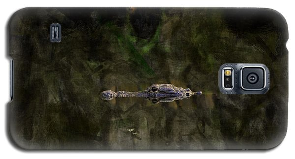 Galaxy S5 Case featuring the photograph Alligator In Swamp by Dan Friend