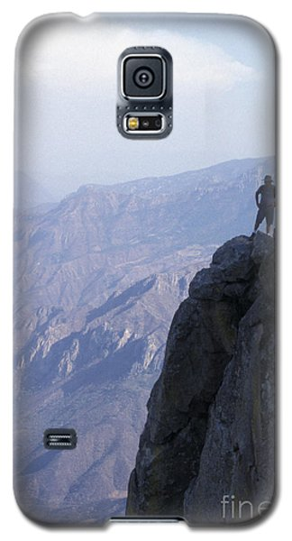 Galaxy S5 Case featuring the photograph Alone At Last Copper Canyon Mexico by John  Mitchell