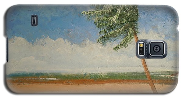 Galaxy S5 Case featuring the painting Alone In Paradise  by Dan Whittemore