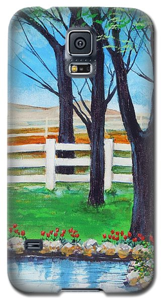 Galaxy S5 Case featuring the painting Along The Lane by Dan Whittemore