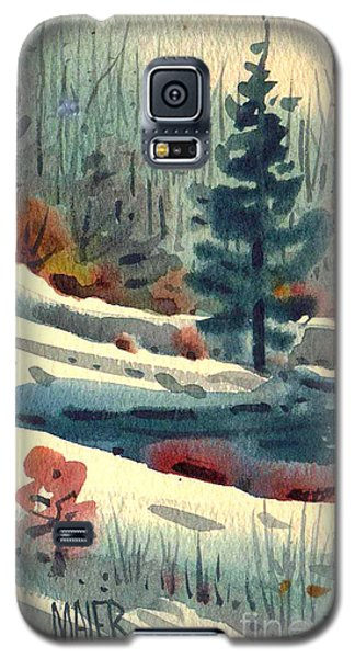 Galaxy S5 Case featuring the painting Alpine Meadow by Donald Maier