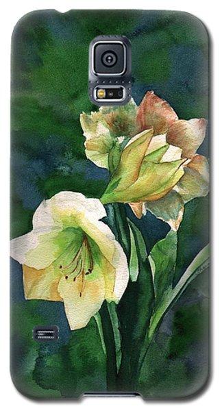 Galaxy S5 Case featuring the painting Amaryllis by Sharon Mick