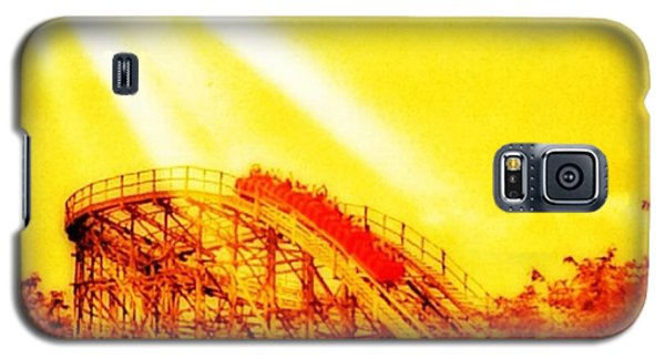 #amazing Shot Of A #rollercoaster At Galaxy S5 Case