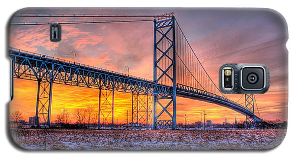 Ambassador Bridge Sunrise 1-16-2012  Detroit Mi Galaxy S5 Case
