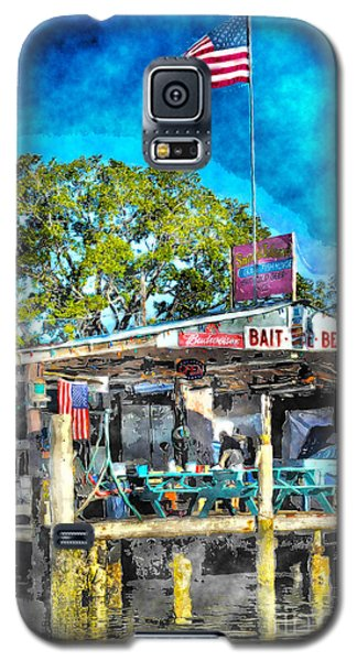 American Flag At Bait Shop Galaxy S5 Case