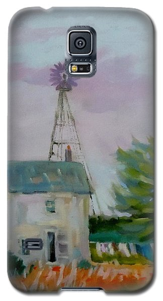 Galaxy S5 Case featuring the painting Amish Farmhouse by Francine Frank