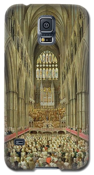 An Interior View Of Westminster Abbey On The Commemoration Of Handel's Centenary Galaxy S5 Case by Edward Edwards