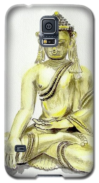Galaxy S5 Case featuring the painting An Orient Statue At Toledo Art Museum - Ohio-3 by Yoshiko Mishina