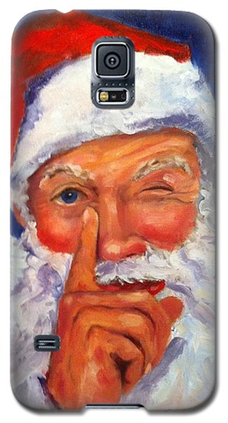 Galaxy S5 Case featuring the painting And Giving A Wink by Carol Berning