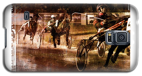 Galaxy S5 Case featuring the photograph and the winner is - A vintage processed Menorca trotting race by Pedro Cardona