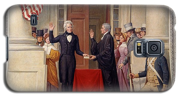 Galaxy S5 Case featuring the photograph Andrew Jackson At The First Capitol Inauguration - C 1829 by International  Images