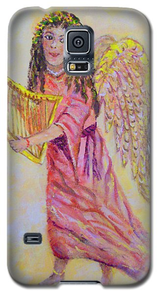 Galaxy S5 Case featuring the painting Angel by Lou Ann Bagnall