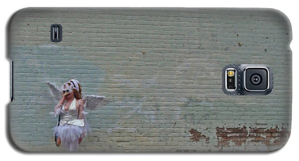 Angel With A Cell Phone On Mardi Gras Day In New Orleans Galaxy S5 Case