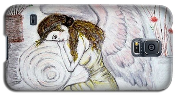 Galaxy S5 Case featuring the drawing Angelshaven by Lori  Lovetere