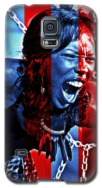 Galaxy S5 Case featuring the photograph Anger In Red And Blue by Alice Gipson