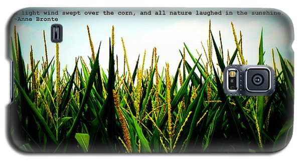 Galaxy S5 Case featuring the photograph Anne Bronte's Cornfield by Robin Dickinson