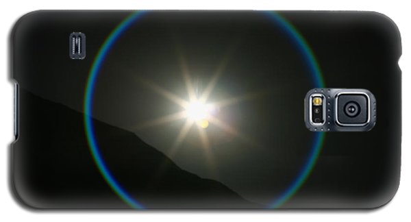 Galaxy S5 Case featuring the photograph Annular Solar Eclipse - Blue Ring At Vasquez Rocks by Lon Casler Bixby