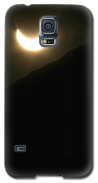 Galaxy S5 Case featuring the photograph Annular Solar Eclipse At Sunset Number 1 by Lon Casler Bixby