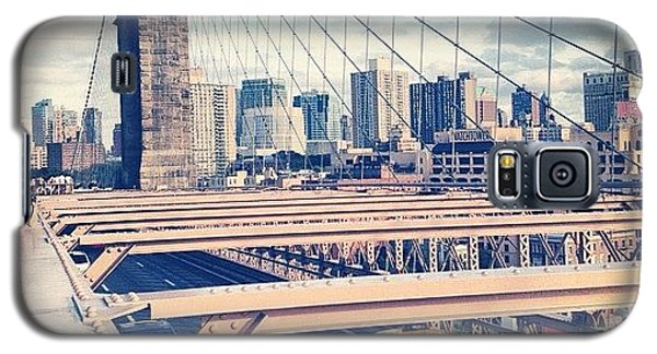 Place Galaxy S5 Case - Another Day On Brooklyn Bridge by Randy Lemoine
