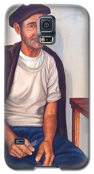 Galaxy S5 Case featuring the painting Antonio by AnnaJo Vahle