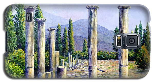 Galaxy S5 Case featuring the painting Aphrodesias Ruins by Lou Ann Bagnall