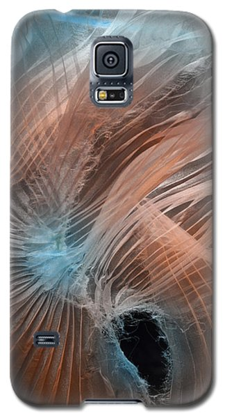 Galaxy S5 Case featuring the photograph Aqua Amber Texture by Gillian Charters - Barnes