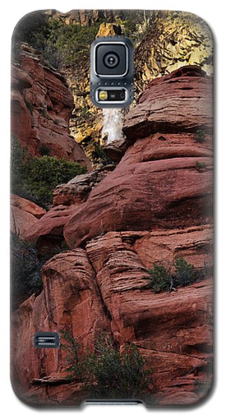 Galaxy S5 Case featuring the photograph Arizona Red Rocks Waterfall by Karen Lee Ensley