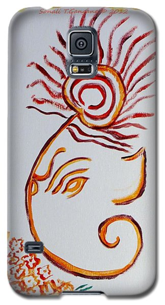 Galaxy S5 Case featuring the painting Artistic Lord Ganesha by Sonali Gangane