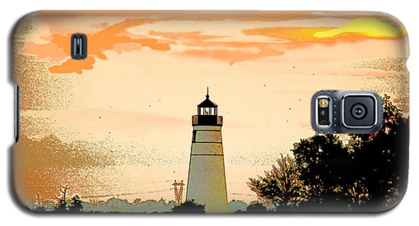 Galaxy S5 Case featuring the photograph Artistic Madisonville Lighthouse by Luana K Perez