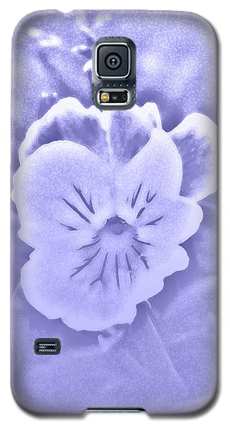 Galaxy S5 Case featuring the photograph Artistic Pansy by Karen Harrison