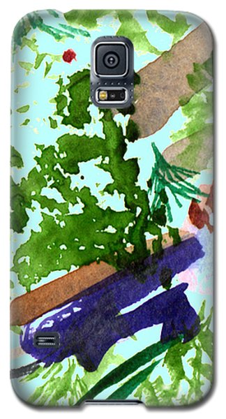 Galaxy S5 Case featuring the painting Asian Garden  by Paula Ayers