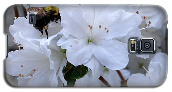 Galaxy S5 Case featuring the photograph At Work In The Garden by Linda Mesibov