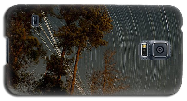 Galaxy S5 Case featuring the photograph Atlanta Star Trails by Ray Devlin