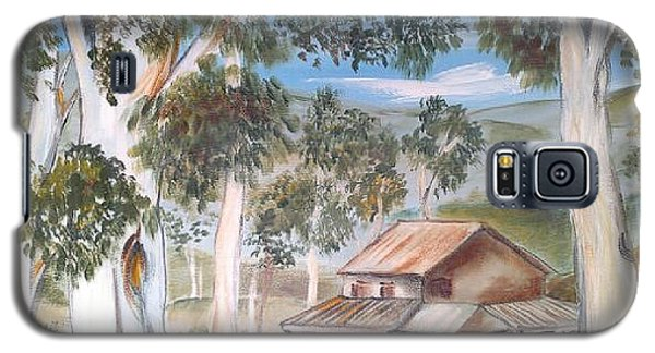 Galaxy S5 Case featuring the painting Australian Outback Cabin 2 by Roberto Gagliardi