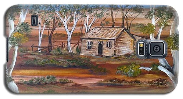Galaxy S5 Case featuring the painting Australian Outback Cabin by Roberto Gagliardi