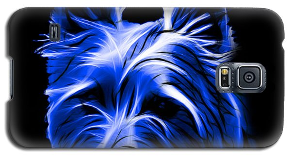 Australian Terrier Pop Art - Blue Galaxy S5 Case