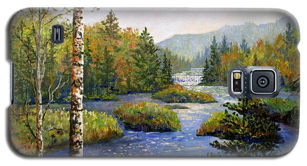 Galaxy S5 Case featuring the painting Autum In Michigan by Lou Ann Bagnall