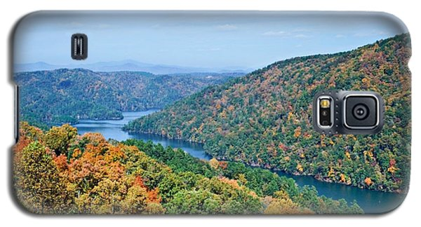 Galaxy S5 Case featuring the photograph Autumn At Lake Tugalo by Susan Leggett