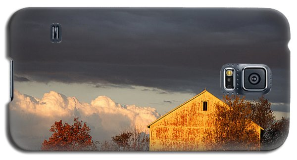 Galaxy S5 Case featuring the photograph Autumn Glow With Storm Clouds by Karen Lee Ensley