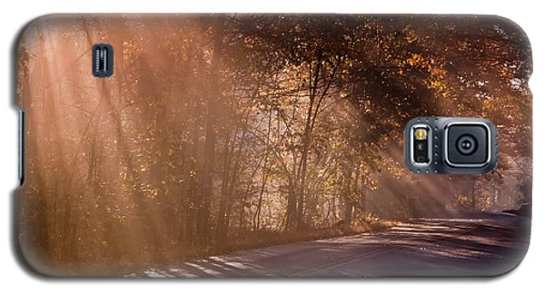 Galaxy S5 Case featuring the photograph Autumn God Light by Tom Singleton