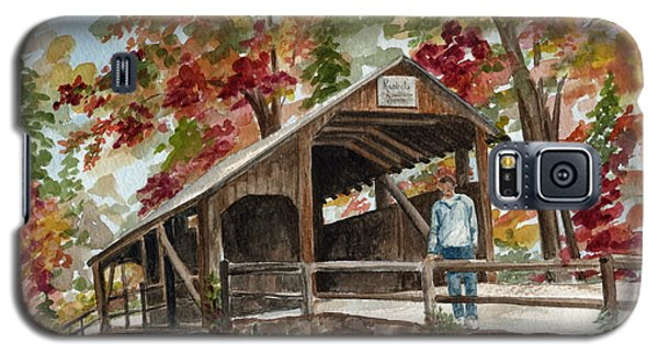 Galaxy S5 Case featuring the painting Autumn In Knoebels Grove  by Nancy Patterson