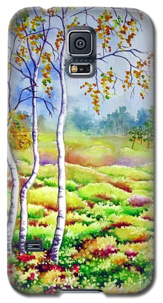 Galaxy S5 Case featuring the painting Autumn Marsh by Inese Poga