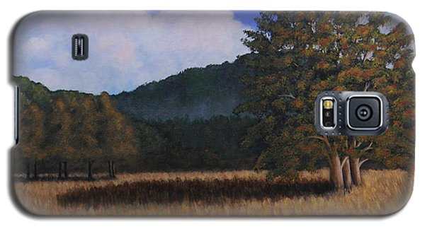 Galaxy S5 Case featuring the painting Autumn Meadow by Janet Greer Sammons